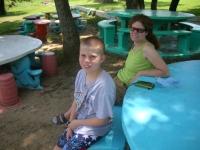 Derek and Rikki in the shade