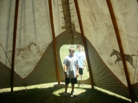 Teepee at the Cherokee Trading Post