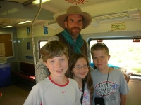 Cowboy on the train